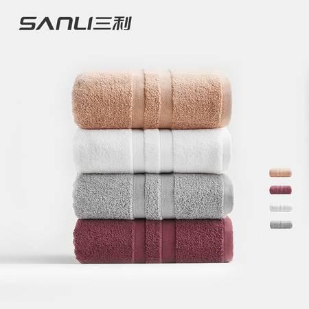 【赣州馆】三利埃及棉浴巾 K01B(70*140cm*1条装) 颜色随机发货