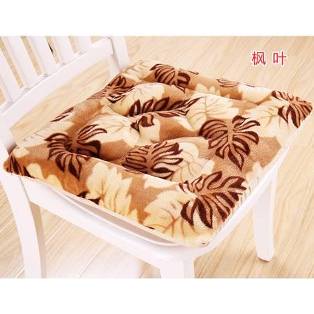 精新方形法莱绒防滑保暖办公室椅垫 餐椅垫家用坐垫40*40