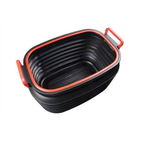 车管家 车载收纳桶37L大容量伸缩桶收纳箱洗车水桶汽车垃圾桶户外家车用备用储物桶折叠桶GJ-8017