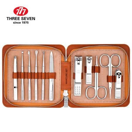 777指甲刀套装 指甲剪钳修容美护组合11件套NTS-3008柚木棕(进口)
