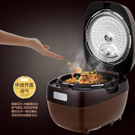 Midea/美的 MY-HT5076PA IH电压力锅智能高压锅饭煲5L双胆3人-6人