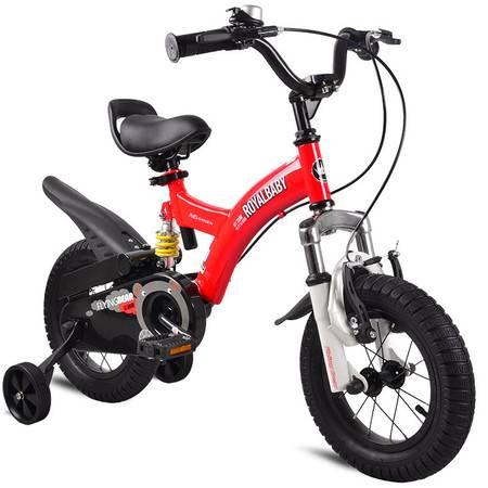 优贝Royalbaby 12寸儿童自行车 3-5岁单车男女童车 避震型宝宝脚踏车山地车 小飞熊 多色