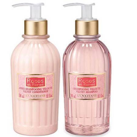欧舒丹/L'OCCITANE 玫瑰皇后洗发水护发素套装(洗发露240ml+护发霜240ml)