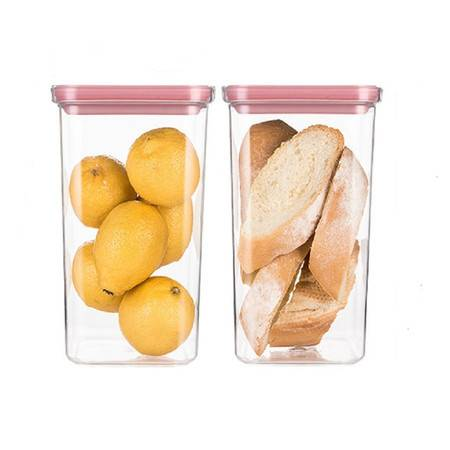 NEOFLAM Tritan材质储物罐两件套2.1L*2  五谷杂粮透明收纳储物盒