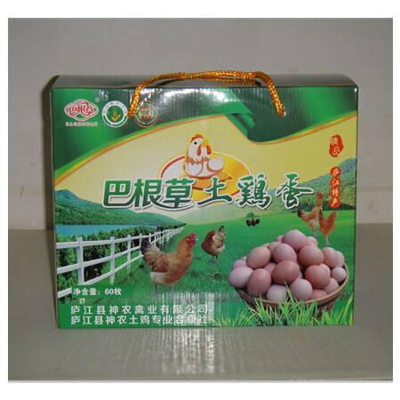 巴根草牌林间散养土鸡蛋60枚礼盒装