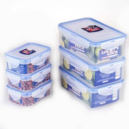 保鲜盒 可微波塑料透明饭盒 长方形 六件套装组合