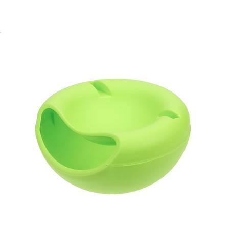 创意 简约嗑瓜子 手机槽干果盘 双层懒人塑料瓜子盘