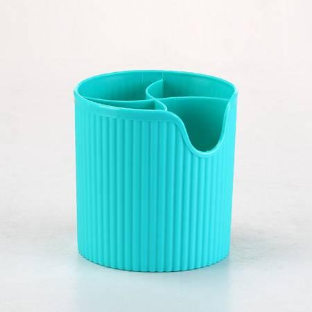 多功能加厚塑料收纳盒 创意筷子笼笔筒  沥水筷子筒