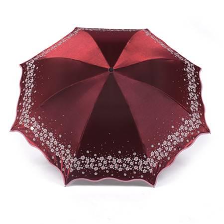 天堂 梨花春色雨伞 晴雨伞 防晒紫外线遮阳伞 女士折叠三折伞