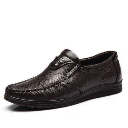 米斯康头层牛皮鞋男士鞋软底中年休闲鞋男鞋爸爸鞋软皮皮鞋9083