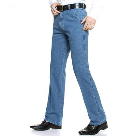 瀚瑞 新款男牛仔裤棉质高腰宽松裤大码肥佬大裤腿长裤子GXM096