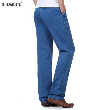 瀚瑞(hanris)男士直筒牛仔裤加肥加大码男裤高腰宽松长裤GXM081 083