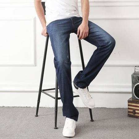 汤河之家男式牛仔裤男士薄款男裤修身弹力休闲裤子 7609