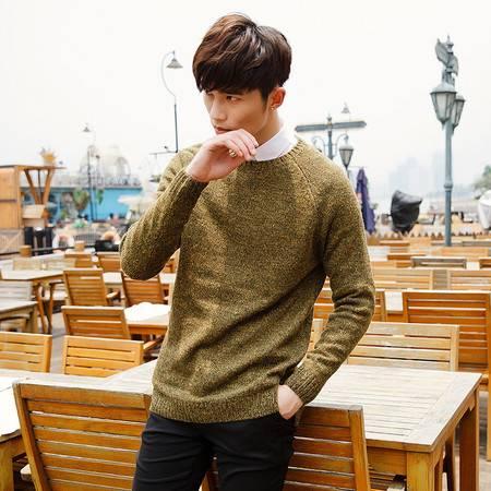 汤河之家 秋冬新款男式毛衣针织衫 中长款韩版下摆开衩毛衣8508