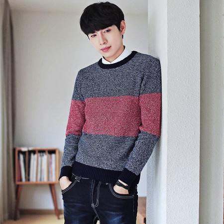 汤河之家秋冬季毛衣男圆领套头韩版男士青少年休闲针织衫长袖毛衫潮