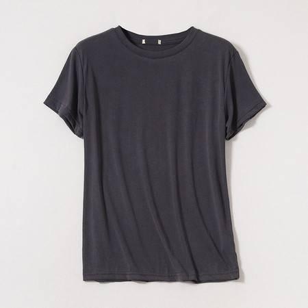 施悦名 夏季基础版多色T恤休闲简约百搭圆领套头短袖上衣70支双丝光棉A
