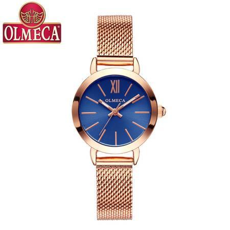 汤河店 OLMECA抖音爆款女表简约女士手表学生带石英表女表腕表