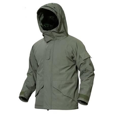 汤河之家 战术风衣冲锋衣全压胶双层防风防水户外战术 冲锋衣
