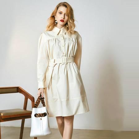 施悦名 春夏季2019很仙的法国小众连衣裙法式复古女装A