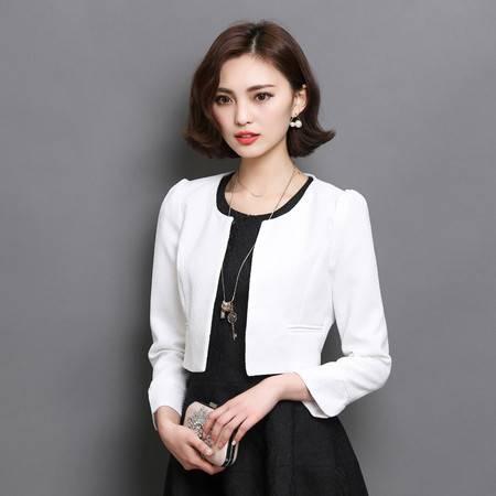 施悦名 2019春秋季女装新款韩版时尚修身纯色上衣百搭小外套A