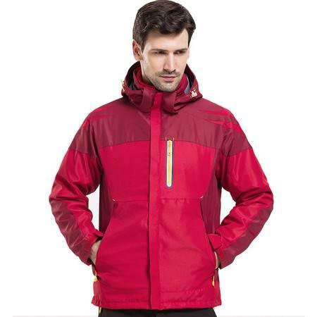 施悦名 户外冲锋衣男女防水透气三合一两件套可拆卸滑雪登山服A