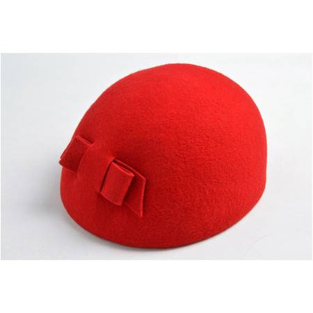 施悦名 帽子女士秋冬季新款羊毛欧美毛毡帽蝴蝶结贝雷帽优雅气质A