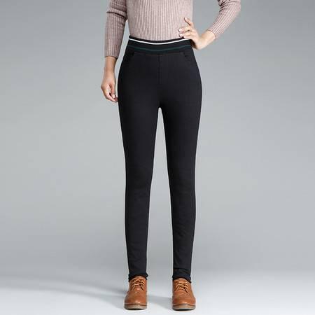 施悦名 2019新款冬季牛仔羽绒裤外穿加绒打底裤女高腰白鸭绒保暖裤A