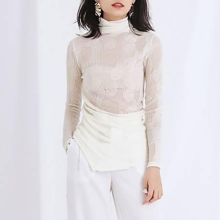 施悦名 针织衫女套头韩版款修身针织女上衣A