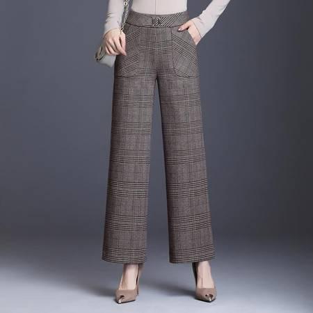 施悦名 2019秋季OL气质女装长裤阔腿裤高腰休闲裤A