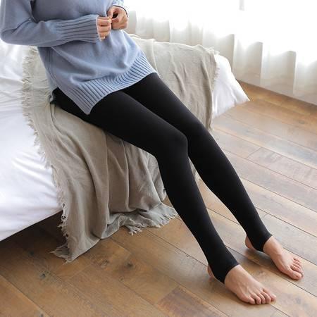 施悦名 700克冬季打底裤踩脚抗起球保暖一体裤加绒加厚打底裤A