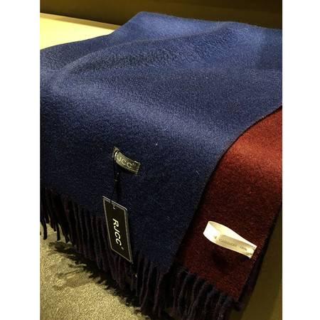 小童马   秋冬新品奢华女士纯羊绒围巾双面双色披肩保暖舒适480克C