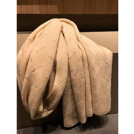 小童马  针织山羊绒围巾保暖舒适欧美风格秋冬保暖纯色围巾女士C