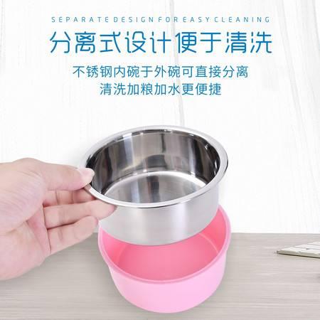 汤河店 宠物碗创意宠物固定碗不锈钢猫碗小挂碗悬挂猫盆