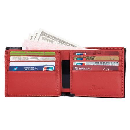 小童马 新款热销男士钱包rfid牛皮零钱夹多卡位大容量財布