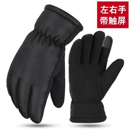 冬季加绒保暖手套男女情侣骑车手套防风加棉