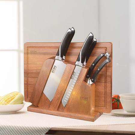 BTSM 狄安娜刀具七件套装 砍骨刀 菜刀 三德刀 果皮刀鸡骨剪 刀具套装 刀具七件套