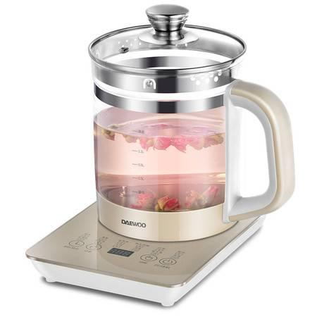 大宇(DAEWOO) 养生壶 加厚玻璃全自动多功能煎药壶1.8L升大容量煮茶器壶烧水壶