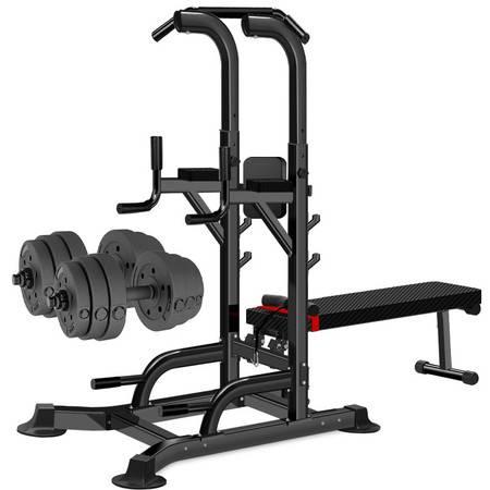 凯康 引体向上器 室内单杠家用健身器材单双杠卧推器 举重床 力量训练器 单功能健身器T058套装