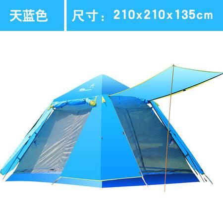 飞拓帐篷户外3-4人野营全自动帐篷家庭加厚防雨双人野外露营野营帐篷