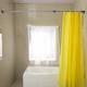 宝优妮伸缩杆免打孔窗帘杆卧室卫生间浴室浴帘套装折叠扇形浴帘杆