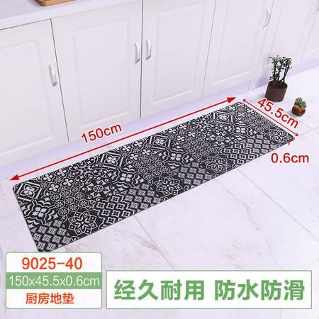宝优妮厨房地垫防滑防油家用长条垫子卧室门垫入户地毯脚垫150*45.5*0.6cm