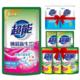 超能焕彩新生双离子洗衣液500g+20gx5袋+APG皂粉30gX2袋