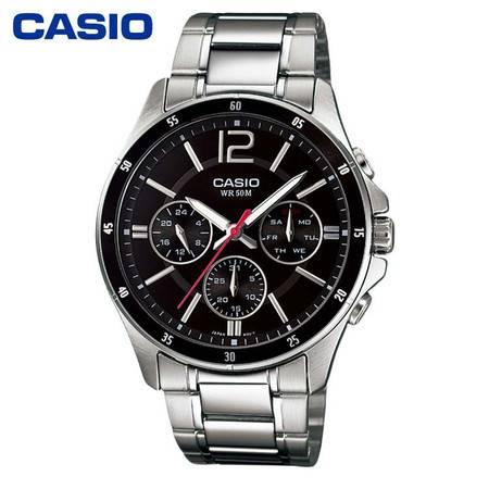 casio/卡西欧 手表男表MTP-1374商务男士手表生活防水石英表