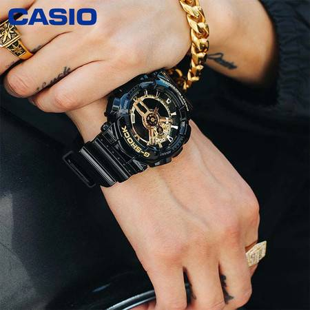 casio/卡西欧 热销人气爆款G-SHOCK系列圆形运动男表潮流时尚个性防水手表