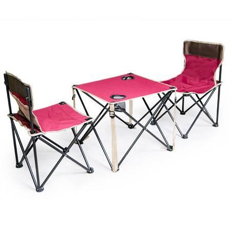 狼行者 户外折叠桌椅 便携桌椅三件套 LXZ-6003