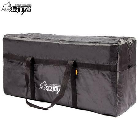 狼行者 旅行户外包收纳袋LXZ-3009 户外帐篷外袋袋子 旅行休闲袋手提便携杂物打包袋黑色收纳袋