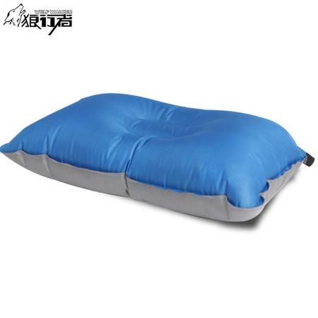 狼行者 自动充气枕头LXZ-4030 旅行枕 便携舒适午睡露营睡枕