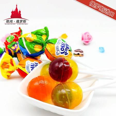 俄罗斯进口 如胜水果味棒棒糖混合口味 包邮