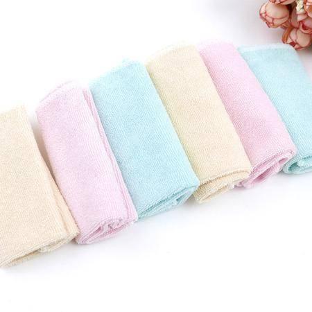 金贝利婴儿纯棉毛巾小方巾6003(6条装)婴儿三角巾 婴幼儿口水巾 宝宝围嘴