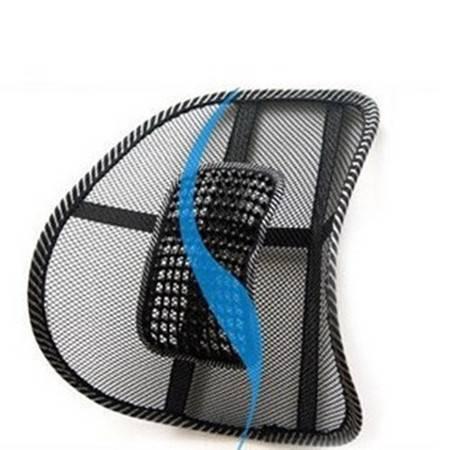 夏季汽车腰靠垫背 车内饰品用品冰丝网眼透气办公室按摩腰靠腰垫